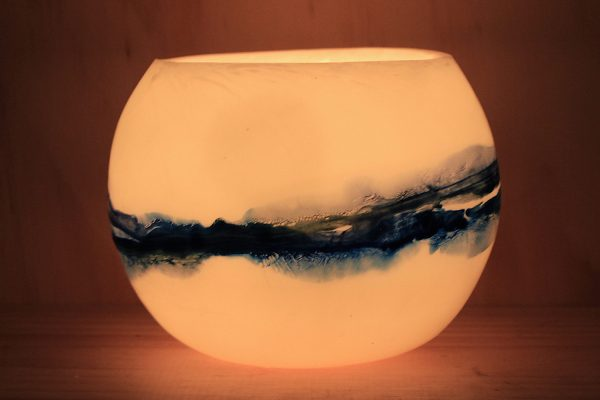 Small Seascape lantern. Capturing the beauty of surf and sea. Photo by Frank Gumley
