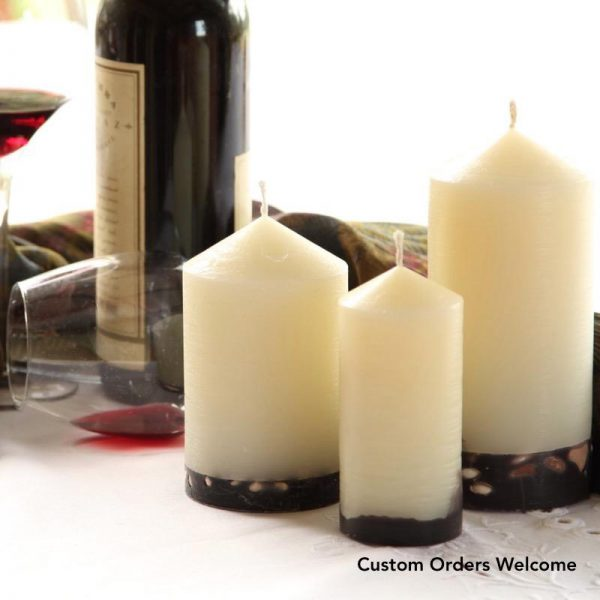 Quality crafted, long burning candles.
