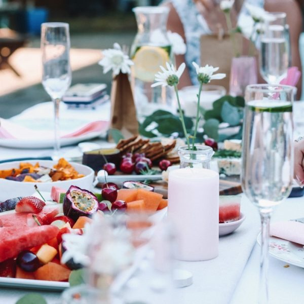 Summer fresh, nothing better than to enjoy a dinner party with friends. Photo by Maddi Bazzocco on Unsplash