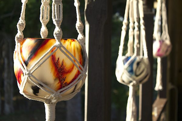 Attractive and versatile Macrame Hangers make a timeless display of your lanterns.