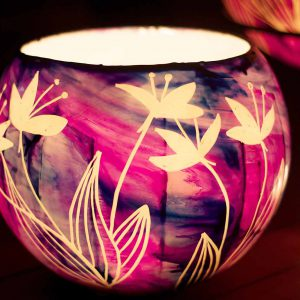 Votive candles are a beautiful bright light to burm to your lantern.