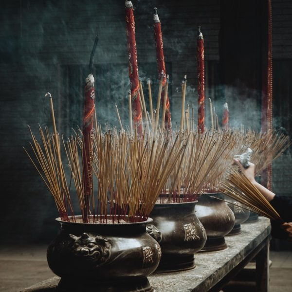 Burning Sandalwood incense. Photo by Chinh Le Duc on Unsplash