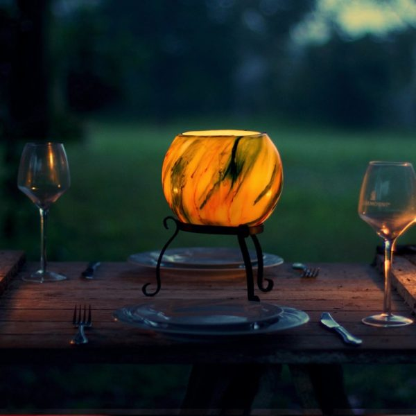 Sitting proud on the table, your lantern offers a soft lighting option while intriging your guests.